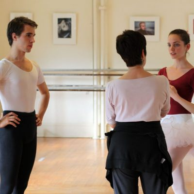 Paula K. Shiff gives private instruction to male and female ballet partners